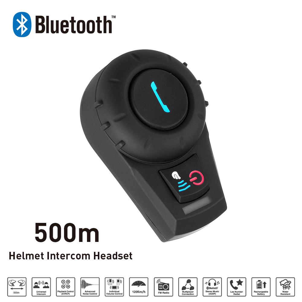 New 500M BT Bluetooth FM Radio Motorcycle Helmet Intercom Interphone Headset intercomunicador motocicleta for Phone/GPS/MP3(China (Mainland))