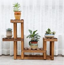 Multilayer Floors Wooden Flower Shelf For Potting Culture And Other Plants In Living Room(China (Mainland))