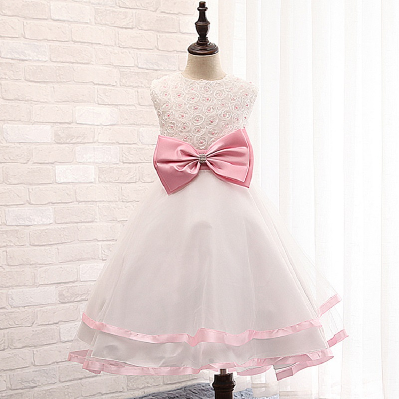2015New Items Children Girls Dress Baby Princess Dress Baby Dance Dresses For Kids for 4-12 Years 4 Colors baby girl clothes C3(China (Mainland))