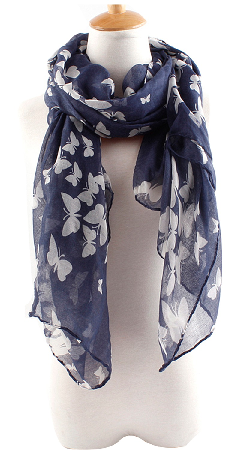 2015 Fashion Women Scarfs Butterfly Print Scarf Elegant Long Scarves Neck Wrap Stole Neckerchief - Shenzhen Sundah Tech Co., Ltd.(Craft & Gift Dept. store)