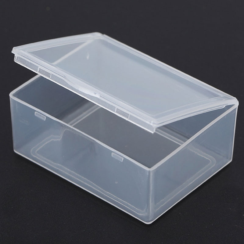 5.5*4.3*2.2cm Mini Portable Jewelry organizer Storage Box Transparent Plastic Name Card Jewelry Organizer Storage Box Case MS514(China (Mainland))