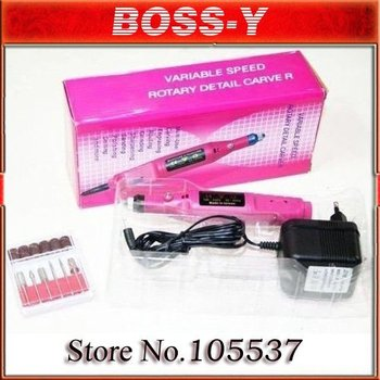 MOQ1 pcs 20000 RPM 6 file pen shape pedicure machine diamond electric nail art drill 2.4 or 3.2mm 160mm L*24mm Diameter