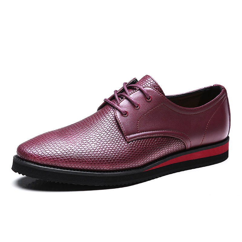men business leather shoes 2016 spring Casual shoes formal work zapatos Oxford Fashion Lace Up Dress Shoes Sapatos office shoes(China (Mainland))
