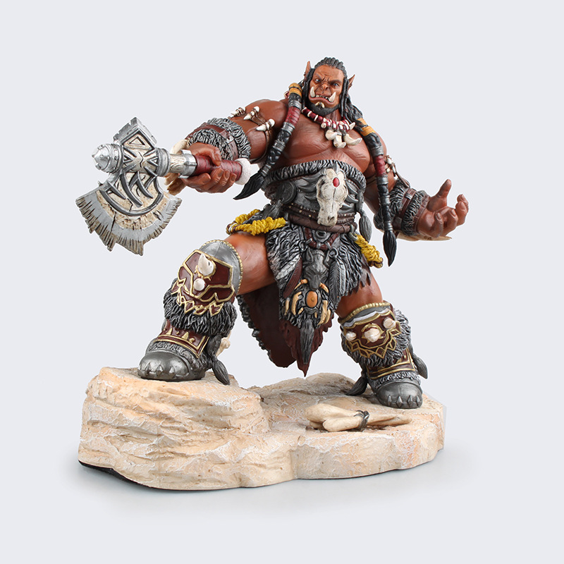 WOW Dota 2 Durotan Frostwolf Clan Cacique Ainme Action Figure Toys Cartoon Game Kids PVC Kids Collection Model Brinquedo 0323(China (Mainland))
