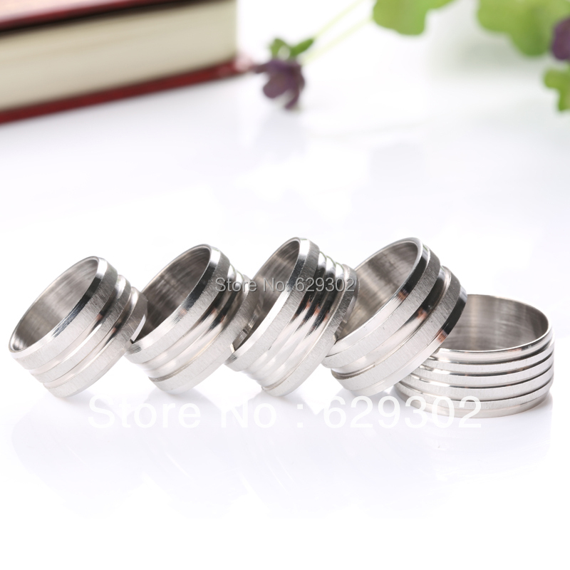 Wholesale jewellery 12pcs/lot 10MM Width black/yellow/white Mixed Design stainless steel rings for man job lots free shipping(China (Mainland))
