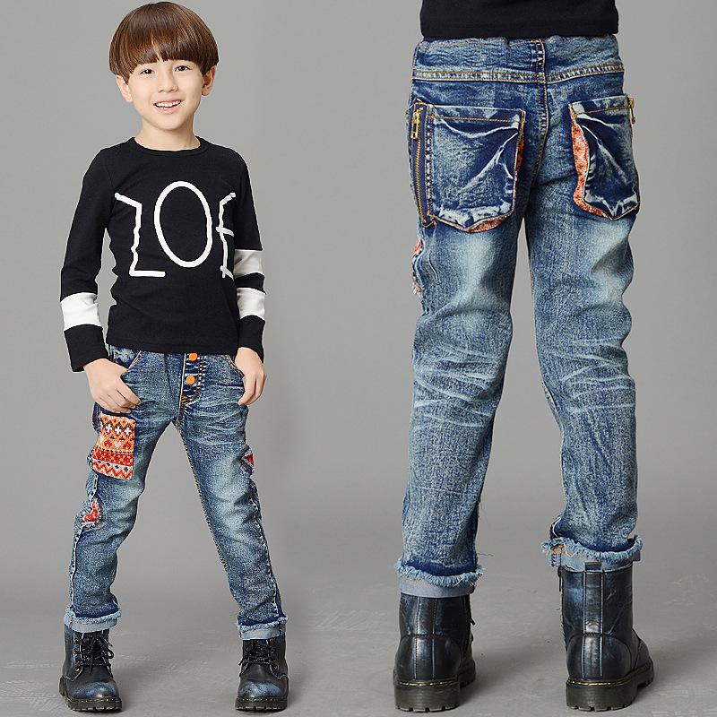 Korean Childrens Jeans Boys Soft Cartoon Letters<br><br>Aliexpress