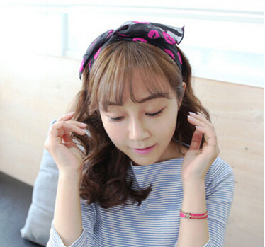 Fashion women's cute lovely cat ear hairbands girl's sexy lips headwear fantasia bow hair accessories(China (Mainland))