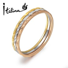 Italina New Arrival 3 Pieces Ring Set For Women Include 3 Pieces Different Color Rings Top Quality #RG91200(China (Mainland))