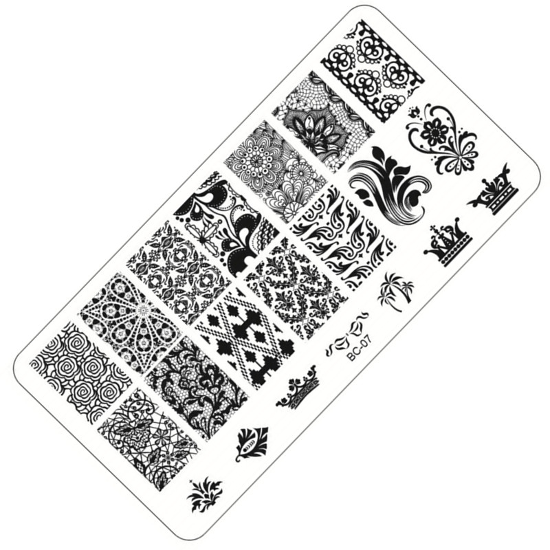 1Pc Nail Stamping Plates Stainless Steel Image Flower Lace Stamping Nail Art Manicure Template Nail Stamp Tool(China (Mainland))