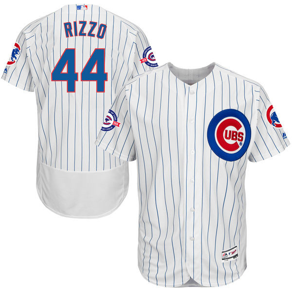 Anthony Rizzo Chicago Cubs 2016 MLB All-Star Flexbase Authentic Collection Jersey - White Throwback Baseball Jerseys(China (Mainland))