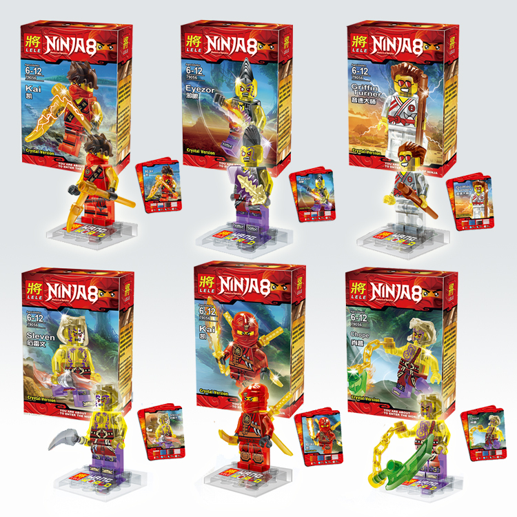 15Lot LELE 79056 Building Blocks Super Heroes Avengers Ultron Transparent Crystal Ninja Minifigures Bricks Figues Toys