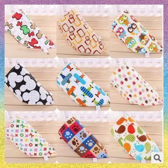 [baby bib]Free Shipping 10pcs/lot B1089 Triangular bandage unique design multifunctional independent towel Cotton saliva towel