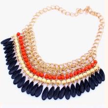Restoring ancient ways design unique temperament fashion jewelry pendant multi layer crystal necklace