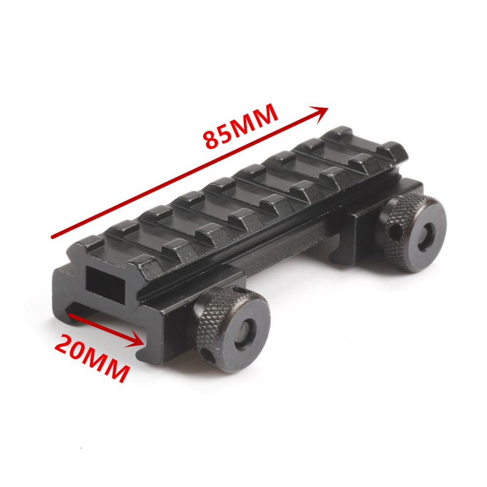 "See Through AR Flat top 1/2"" inch Riser Base w/Picatinny/Weaver Scope Rail 20MM Mount 8 slot Med-Profile Picatinny Weaver(China (Mainland))"