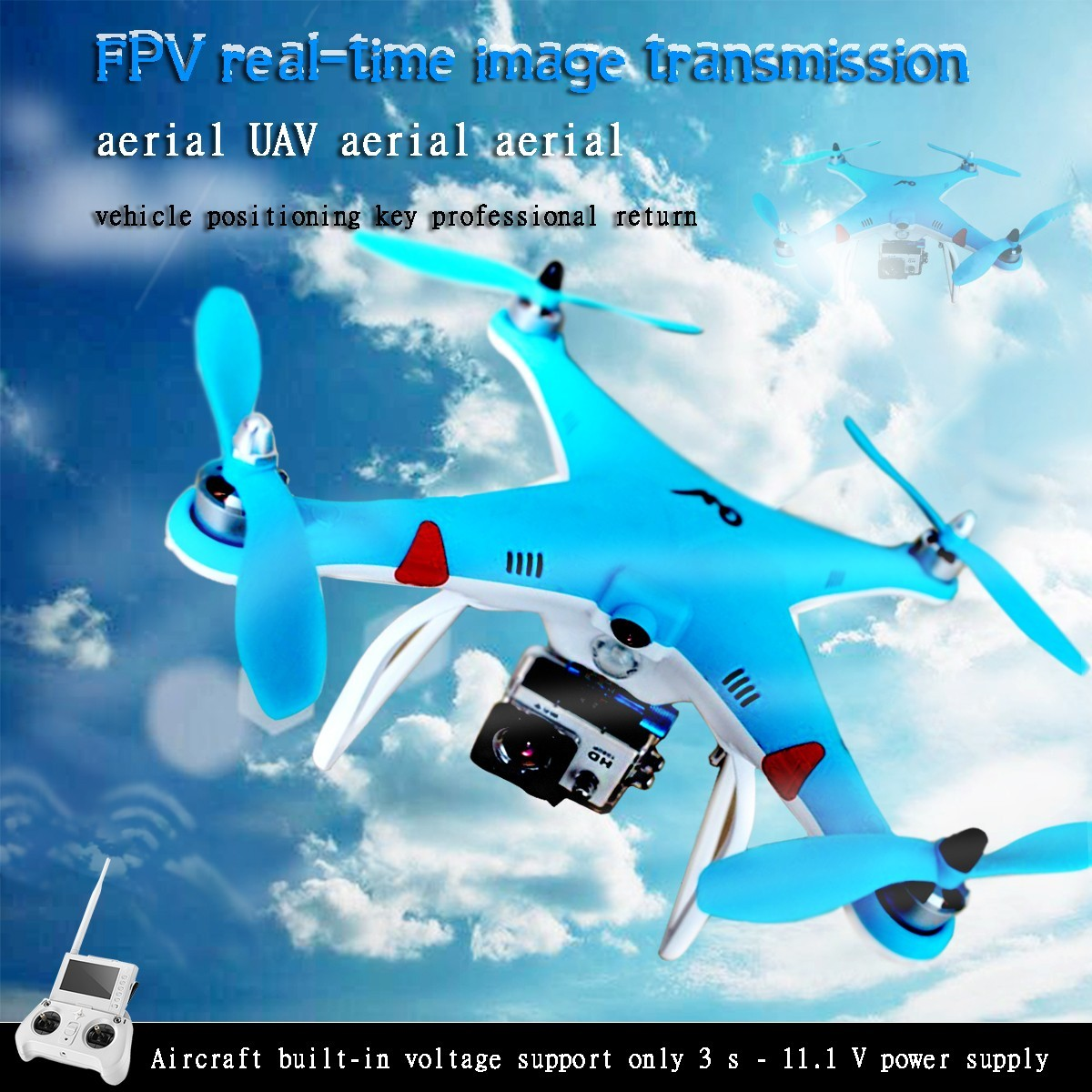 QW FPV real time Pro GPS Drone 6CH UAV aerial RC Helicopter Quadcopter positioning one key