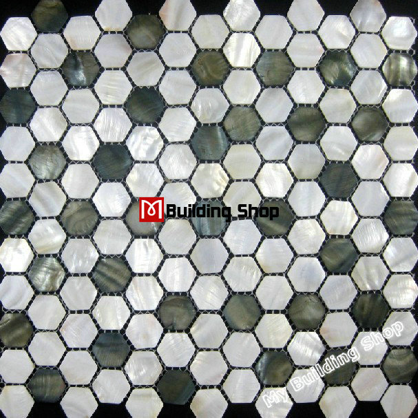Mother of pearl tile backsplash MOP070 FREE shipping mosaic tile hexagon mother of pearl tiles bathroom tile<br><br>Aliexpress