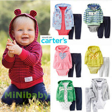 Hot Origina Carters baby boy girl clothing set Carters set baby suit retail conjuntos coat bodysuits
