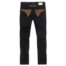 2015 New Green robin jeans men designer famous brand mens robins jeans denim with wings american flag jeans plus size 38 40 42(China (Mainland))
