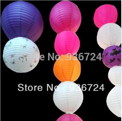 Chinese Lantern For The Spring Festival Free Shipipng 15pcs/lot (8Inch)Paper Lantern Round Hang Chinese Paper Lanterns(China (Mainland))