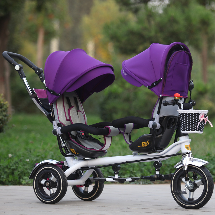 Jin Ming twin children tricycle double hand push bicycle seat two-way baby stroller manufacturers selling(China (Mainland))