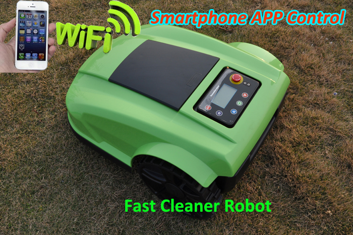 Automatic Rechargeable Robot Mower S520 Updated NEWEST WIFI APP,Water-proofed Charge,Schedule,Compass function,Language Optional(China (Mainland))