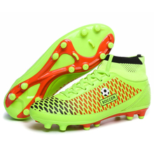 Adult high ankle soccer shoes Fly man football shoes kids boys New superfly soccer cleats boots football trainers Free Shipping