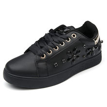 Fujin Marke 2019 Neue Perle Espadrille Weiche Leder Strass Frauen Flache Schuhe Slipper Sneakers Partei Weibliche Schuhe Espadrilles(China)