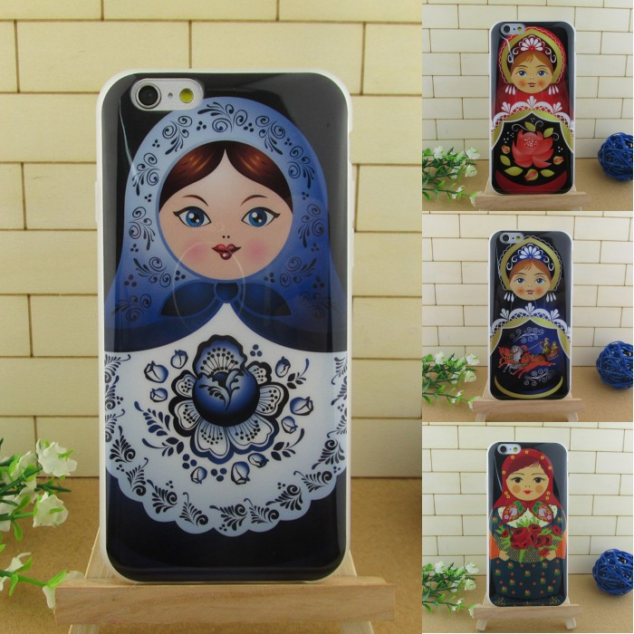 Mobile Phone Case For Iphone 5 5S TPU Cell Phones Cases Protective Shell Matryoshka Design Free Shipping(China (Mainland))