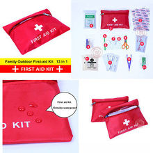 Emergency Survival FIRST AID KIT Treatment Pack OUTDOOR SPORT TRAVEL MEDICAL BAG(China (Mainland))