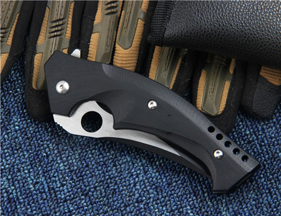 Buy Hunting Survival Folding Pocket Knife CPM S30V Steel G10 Handle C196 Tactical Combat EDC Camping Knives Utility Outdoor Tools cheap