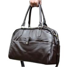 New Fashion PU Leather Men's Travel Bags Quality Man Travel Duffle Large Capacity Traveling Luggage Handbag Free Shipping XB101(China (Mainland))
