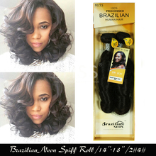 Free Shipping Bliss Hair Brazilian Neon Spiff Roll 1pack 2pcs 100g Color #2#4 Brazilian Hair Extentions