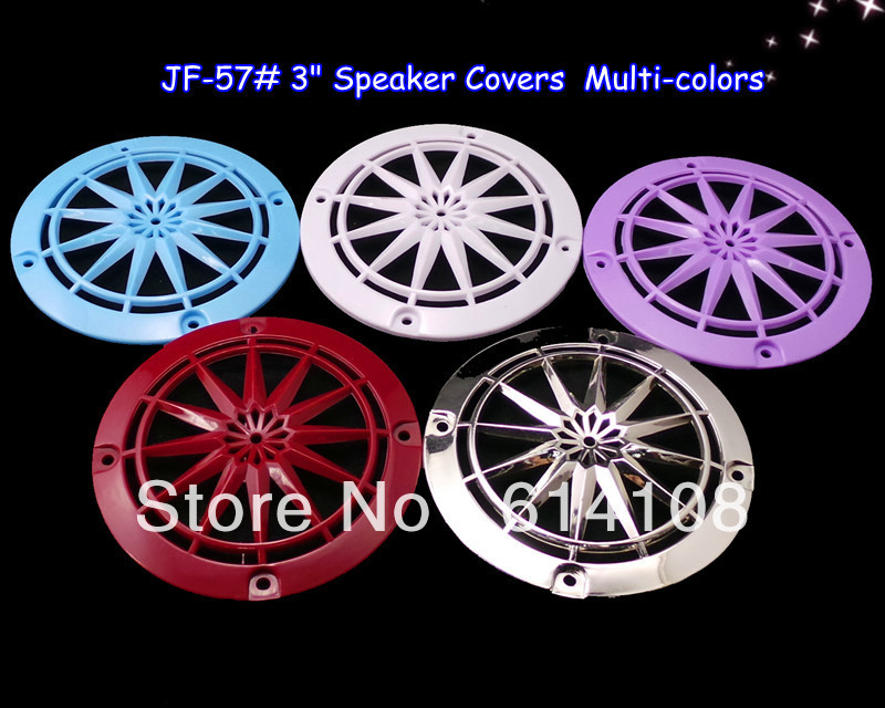Multi Color 3inch Speaker Grill Covers,Plastic Speaker Parts,Wholesale Speaker Component Free Shipping(China (Mainland))