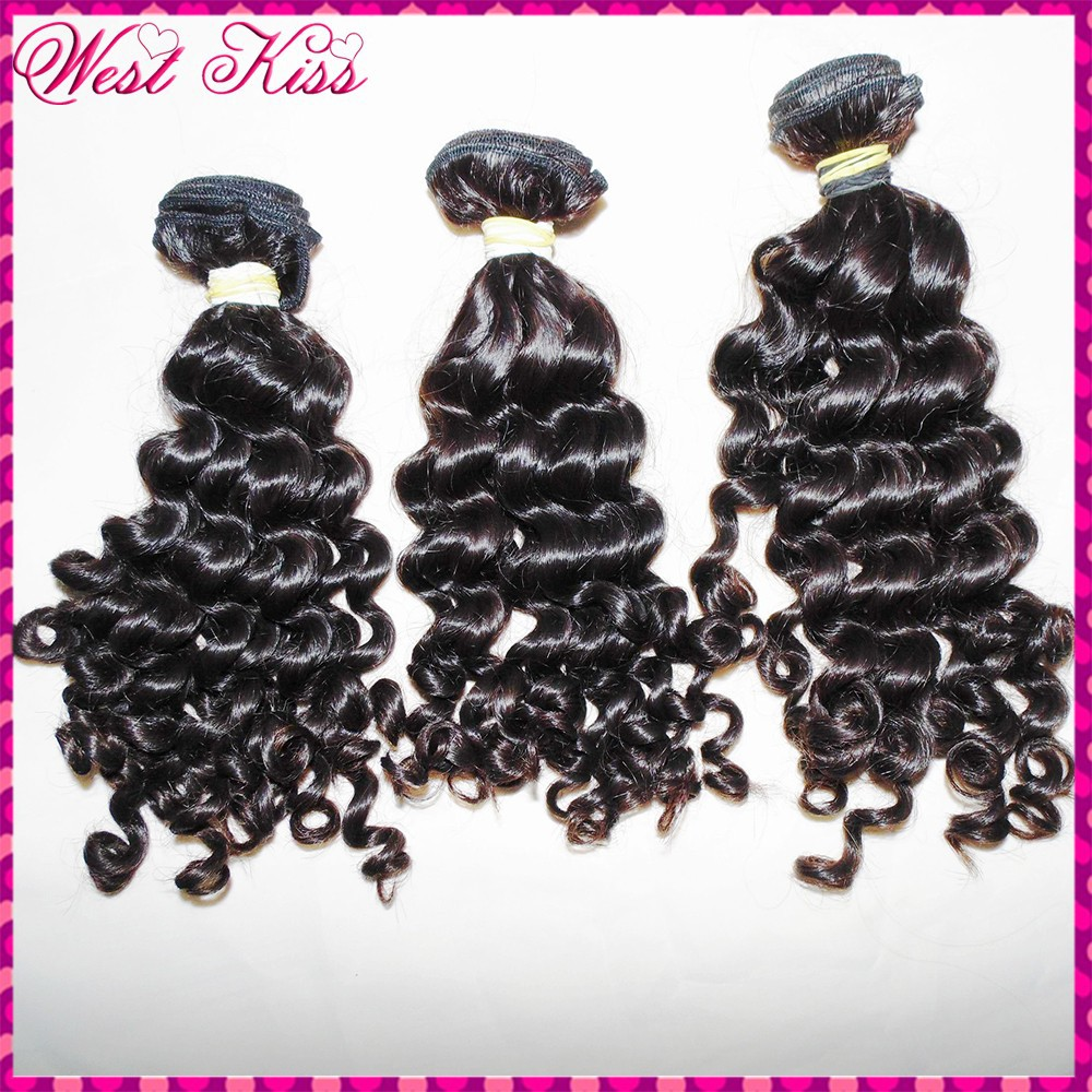 "New Arrive bigger curls Malaysian virgin hair 8A grade top quality soft bouncy deep wave curly 12""-26""(300g) flawless weave(China (Mainland))"