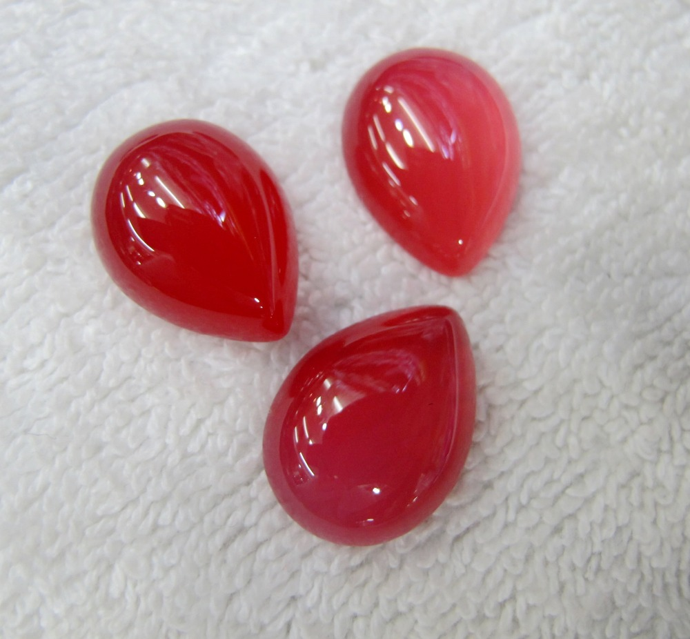 Nice!Natural Ruby Red Carnelian 18*25mm Pear Gem Jewelry Ruby Agate Cabochon Stone Ring Face Ring Setting 30pcs/lot
