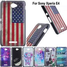 For Sony Xperia E4 Fashion Print Plastic Hard Back Moible Phone Case Cover For Sony Xperia E4 E2104 E2105 E2114 Phone Bags