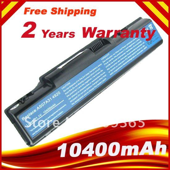 12 CELL 8800mAh laptop battery For Acer aspire 4315 2930 4310 4710 Aspire 5738 5738G Aspire 5740 5740G EMACHINE D620(China (Mainland))