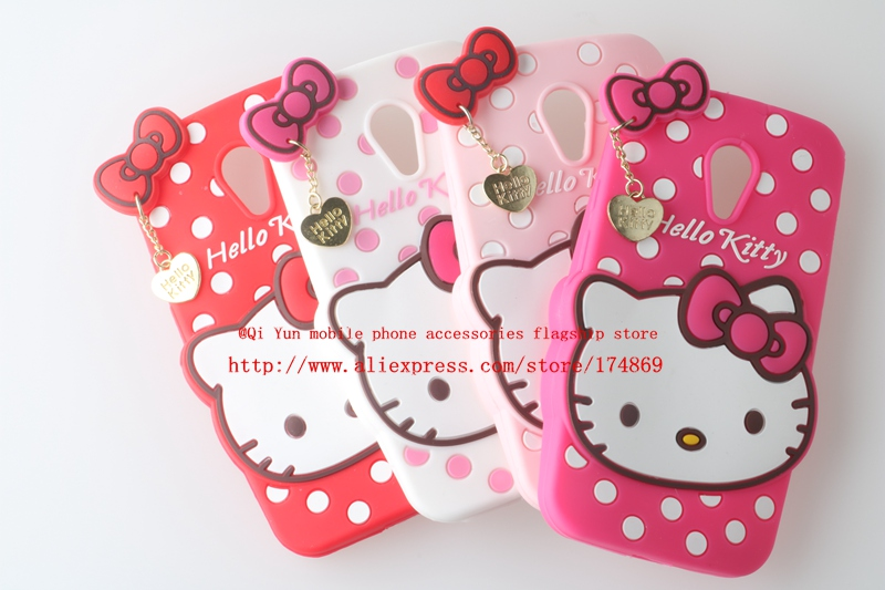 For Motorola Moto G2 XT1063 XT1068 XT1069 Cute Pendant Polka Dot Hello Kitty Silicone Cell Phone Back Defender Case Cover(China (Mainland))