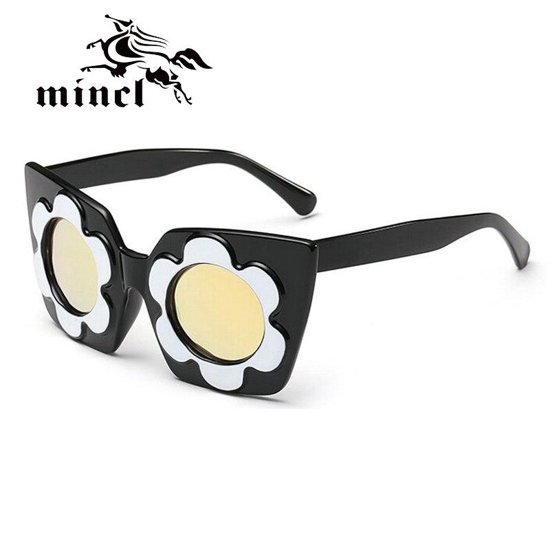 Mincl/A transparent personality dazzling color Sunglasses creative flower Sunglasses(China (Mainland))