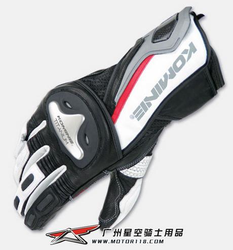 Free shipping original single KOMINE 2013 GK-149 popular brands of motorcycle racing gloves, riding gloves Titanium(China (Mainland))