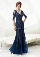Vestidos De Noivas 2014 Sexy Formal Dresses Women Plus Size Wedding Dress Godmother Modest Bridesmaid Dresses With Sleeves 2014(China (Mainland))