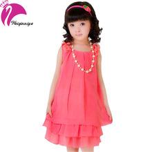 New Arrivals Summer 2016 Kid Girls Dress Cool Sleeveless Chiffon Dresses For Girl 4-15Y Children's Clothes Vestidos Infantil Hot