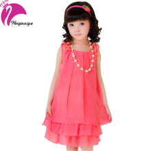 New Arrivals Summer 2016 Kid Girls Dress Cool Sleeveless Chiffon Dresses For Girl 4-15Y Children's Clothes Vestidos Infantil Hot