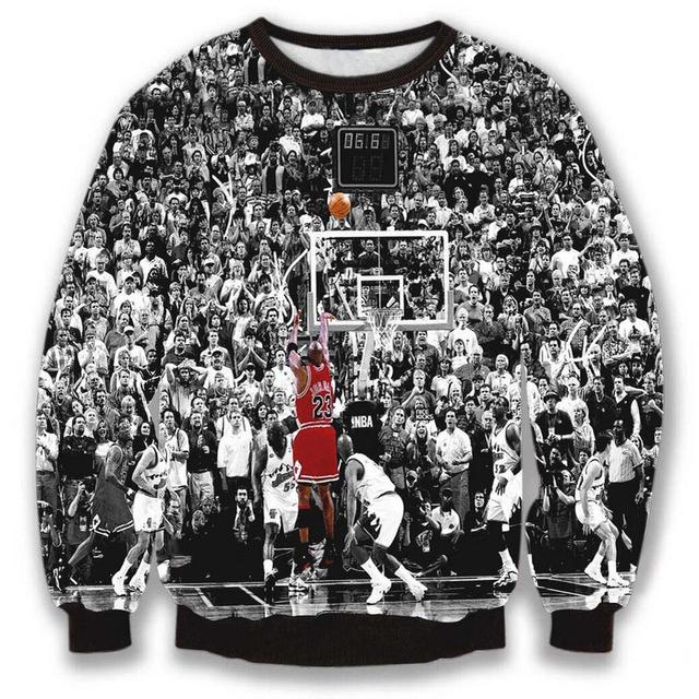 Мужчин / женщин Harajuku Sportwear толстовки 3D печать иордания 23 баскетбол все ...