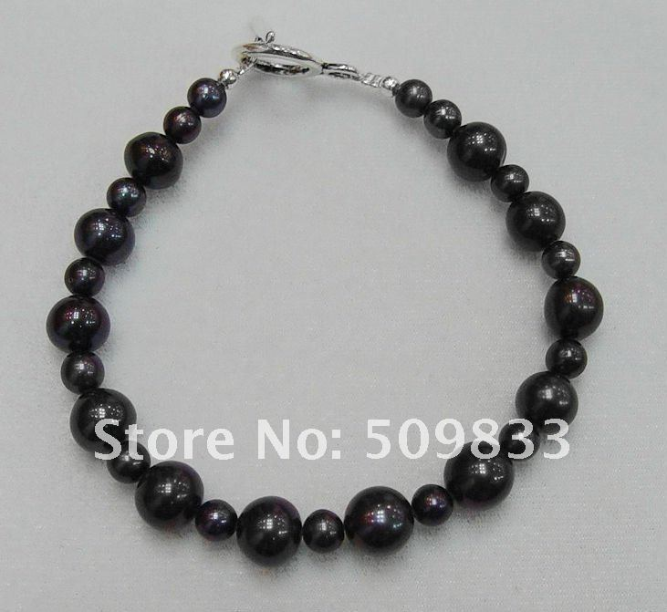Natural freshwater pearl bracelet, 6-10 mm natural pearl bangles(China (Mainland))