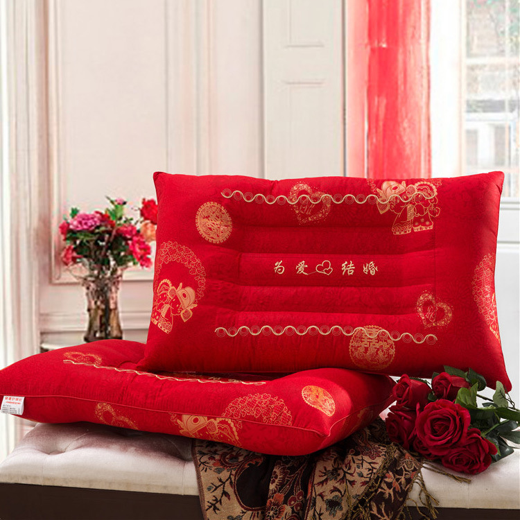 New Arrival Red Rectangle Cassia seed pillow shaping pillow neck pillow health care pillow 45*72cm(China (Mainland))