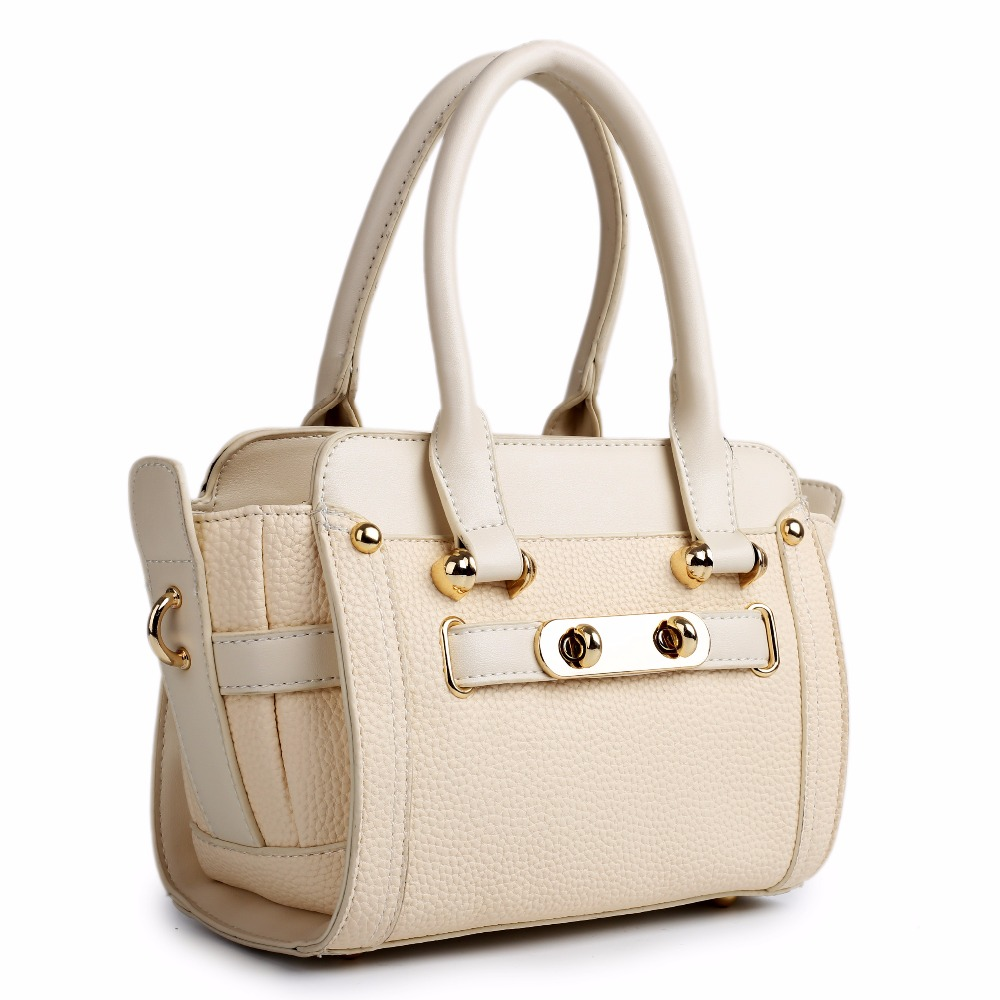 LG1603 - MISS LULU WOMEN DESIGNER CELEBRITY PU LEATHER LOOK SMALL HANDBAG CROSS BODY SHOULDER SATCHEL HAND BAG BEIGE(China (Mainland))
