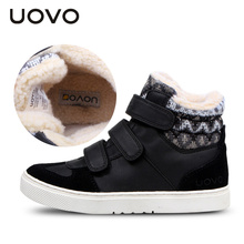 UOVO Winter Children Shoes Warm Faux Fur Boys Shoes Girls Shoes Mid-Cut Footwear for Kids(China (Mainland))