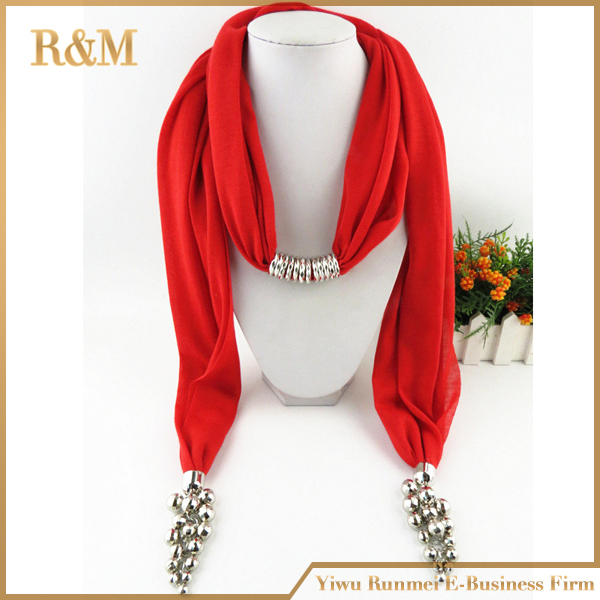 Jewellery Scarf Wholesale Crystal Stone Scarves Women New Fashion Scarf Shawl Wrap with pretty pendant(China (Mainland))