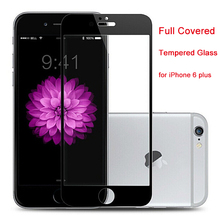 NEW!!! for iPhone 6 plus 6S plus FULL COVER Tempered Glass Screen Protector Protective Film 0.3mm 2.5D 9H hardness high quality